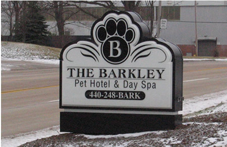 The Barkley Pet Hotel Sign