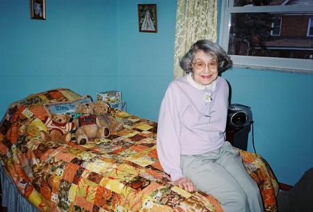 Gramma on Her Quilt